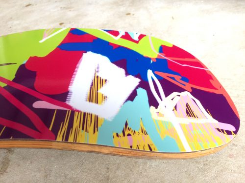 abstract art snowboard