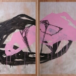 Mess (Diptych) - Interrelation, abstract art by Sioux Tempestt